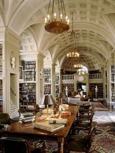 Days in libraries that are elegant and ancient, with the smell of old books and the silence of study