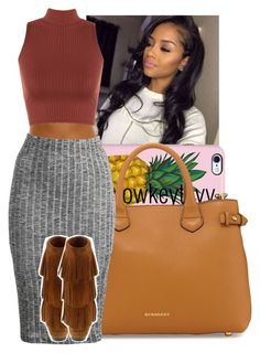 """""""this okay"""" by lowkeytayy ❤ liked on Polyvore featuring Uncommon, Burberry and WearAll"""