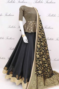 9 meter Full Flair Elegant Premium Silk Chaniya Choli With Designer Blouse & Dupatta - blouse Choli Designs, Lehenga Designs, Kurta Designs, Kurti Designs Party Wear, Saree Blouse Designs, Indian Gowns Dresses, Pakistani Dresses, Indian Outfits, Punjabi Dress