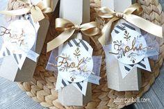 Piccolo Verpackung Stampin Up! Winterliche Weihnachtsgrüße Mitbringsel Weihnachten Christmas