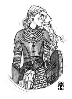 Chainmail by Corade on DeviantArt Character Creation, Character Concept, Character Art, Concept Art, Character Design, Dnd Characters, Fantasy Characters, Female Characters, Inspiration Drawing