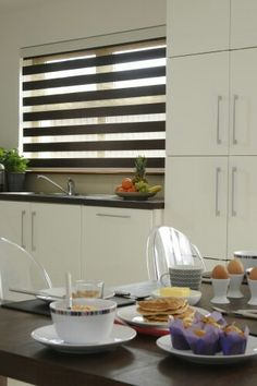 Bloc Zebra Blind - effortless, modern, practicality of a roller with the look of a venetian!
