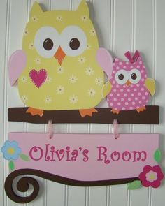 Image detail for -m2m kidsline dena happi tree owls, hand painted wooden wall letters ... This is the theme in the baby's nursery!