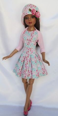 "LIZETTES-FITTED-AND-FLARED-OUTFIT-FOR-16"" ELLOWYNE, by ssdesigns via eBay, SOLD 3/7/15  $49.99"