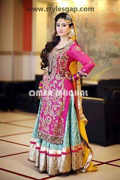 Mayun Bridals Makeup Looks Dresses Designs Trends Walima Dress, Mehndi Dress, Mehendi, Desi Wedding, Wedding Wear, Wedding Dresses, Wedding Ring, Mehndi Designs For Girls, Bridal Makeup Looks
