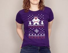 Happy Yeti Ugly Christmas Sweater Men's T-shirt