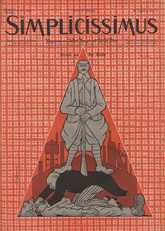 Vintage cover of the German political-satire magazine, Simplicissmus, Hermann Hesse, Magazine Illustration, Illustration Art, Cabaret, Robert Walser, Political Satire, Old Magazines, Cartoon Styles, Journaling