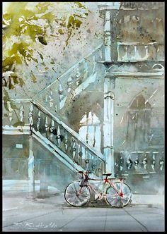 Rafal Rudko watercolor paintings