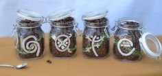 Brand new!  Jars to store coffee (Taino symbols approximate the letters that spell CAFE).  We're giving these away with new coffee club subscriptions (Automatic monthly coffee shipments of great Puerto Rican coffee!).