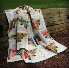 Quiet Cabin Quilt....discusses the process and strip size