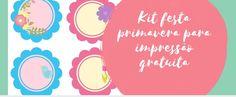 Kit festa primavera para impressão gratuita