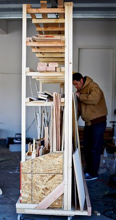For storing ridiculous amounts of scrap lumber.
