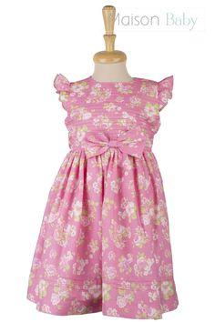 Vestido infantil de verão estampado Maison Baby. Summer dress for girls