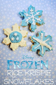 Frozen Rice Krispie Snowflakes! from @Melissa Mitchell