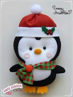 icu ~ Pin on Fabulous Felt Craft ~ This Pin was discovered by Petoolela Crochet. Diy Christmas Lights, Felt Christmas Decorations, Beaded Christmas Ornaments, Felt Ornaments, Christmas Stockings, Felt Crafts, Christmas Crafts, Christmas Holidays, Felt Doll Patterns