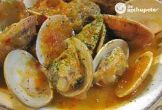 Almejas a la marinera Tilapia Recipes, Seafood Recipes, Mexican Food Recipes, Italian Recipes, Healthy Recipes, Ethnic Recipes, Italian Foods, Spanish Dishes, Spanish Cuisine