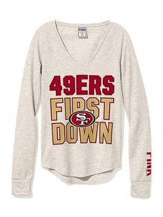 6127e2ff9 Victoria s Secret PINK Long-sleeve Thermal Tee Sf Niners