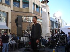 Mario Lopez my teenage crush from Saved By the Bell. Filming Extra at the Grove.