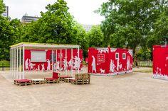Park zahradníkova. Kavárna PikNikBox. Brno Czech republik.