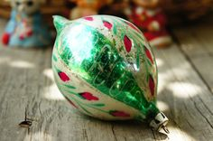 Vintage 50s Mercury Glass Christmas Ornament by SycamoreVintage