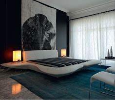 45 Best Ideas For Bedroom Design Wallpaper Quartos Bedroom Furniture Design, Modern Bedroom Design, Master Bedroom Design, Home Interior Design, Dream Rooms, Dream Bedroom, Home Bedroom, Room Decor Bedroom, Platform Bed Designs