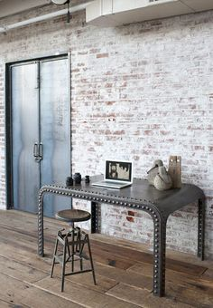 brick wall....one day I would love to live in a loft.