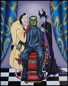 Cruella de Vil and Maleficent make Frankenstein