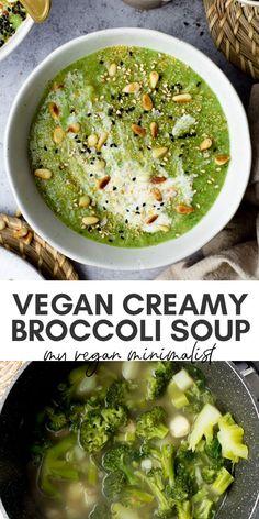 Vegan Soups, Vegan Vegetarian, Vegetarian Recipes, Healthy Recipes, Lunch Recipes, Dinner Recipes, Broccoli Potato Soup, Broccoli Soup Recipes, Brocoli Soup