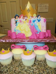 A Piece of Cake: Disney Princess Cake & Matching Cuppies