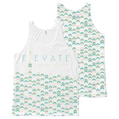 Elevate Your Life: All-Over Printed Unisex Tank #chevron #pattern #tanktops