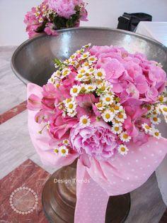 Peonies, Hydrangea, alstroemerias and chamomile....
