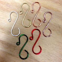 Mid-size Ornament Hooks/Hangers, sample colors.