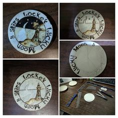 My first coaster set. This will be the first piece of this collection.  #art #pyrography #gift #lockesluckymoonnstars