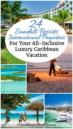 Looking to travel to the Caribbean for all-inclusive luxury beach vacation? Look no further than Sandals Resorts International with 24 hotel properties under 5 brands across 7 Caribbean destinations.: