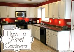 How to paint cabinets -white cabinets and silver hardware