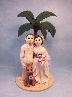 Wedding Cake Topper by lynnslittlecreations on Etsy, $30.00