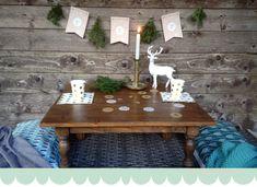 Mesa de Navidad. Natural Christmas
