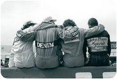 Nelson Piquet, Nigel Mansell, Alain Prost, Ayrton Senna. Apenas...