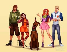 Modern Scooby-Doo Character Designs : Isaiah Stephens Art gave the characters from the beloved retro cartoon Scooby-Doo updated looks! This is what he imagined they would look like if they were around solving mysteries today. Cartoon As Anime, Cartoon Art, Funny Character, Character Art, Ed Edd Y Eddy, Isaiah Stephens, Cartoon Characters As Humans, Pixar, Daphne And Velma