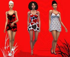 Be my Valentine short gown at Dreaming 4 Sims via Sims 4 Updates