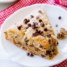 The best Chocolate Chip Scones you'll ever make. Moist and tender with a slight crunchy top. Plus lots of chocolate!