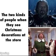 Two Kinds of People at Christmas