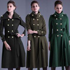 Army-Green-Military-Long-Jacket-