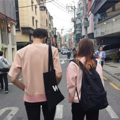 Image about pink in Couples / parejas by Vanesa Ulzzang Couple, Ulzzang Girl, Matching Couples, Cute Couples, Parejas Goals Tumblr, W Two Worlds, Pink Images, Applis Photo, Korean Couple