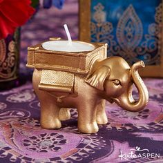 Buy the Lucky Elephant Golden Tealight Holder Indian Wedding Favors or other Indian Wedding Favors from Wedding Favors Unlimited today! Coffee Wedding Favors, Indian Wedding Favors, Honey Wedding Favors, Handmade Wedding Favours, Creative Wedding Favors, Inexpensive Wedding Favors, Elegant Wedding Favors, Edible Wedding Favors, Wedding Gifts For Guests