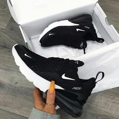 Nike Air Max 270 in black - one of the most popular sneakers this year! - Everything is here - Nike Air Max 270 in black – one of the most popular sneakers this year! Dr Shoes, Nike Air Shoes, Hype Shoes, Me Too Shoes, Sneakers Nike, Yeezy Sneakers, Sneakers Women, Nike Shoes For Women, Ladies Shoes