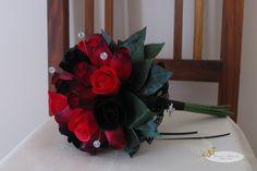 wooden rose bridesmaid bouquet
