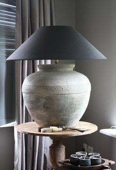 Love this gray lamp~ I have one very similar