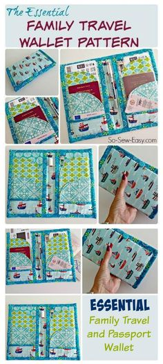 Try out this beginner sewing pattern of the So-Sew-Easy ESSENTIAL family travel and passport wallet.