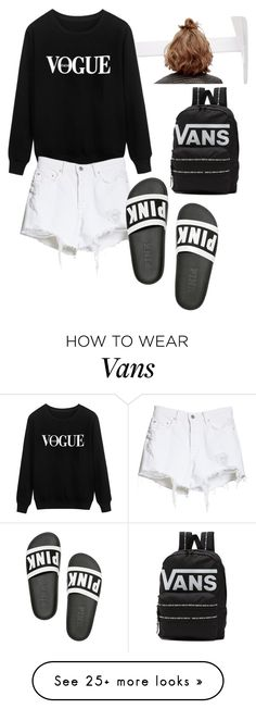 """""""Untitled #33"""" by eavinikasawers on Polyvore featuring Vans, GRLFRND, Victoria's Secret PINK and chicflats"""
